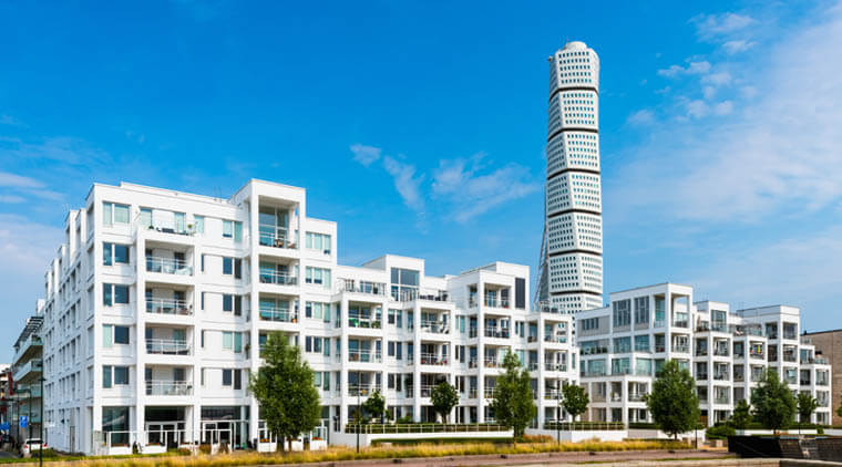 Modern Housing Project in Malmo Sweden