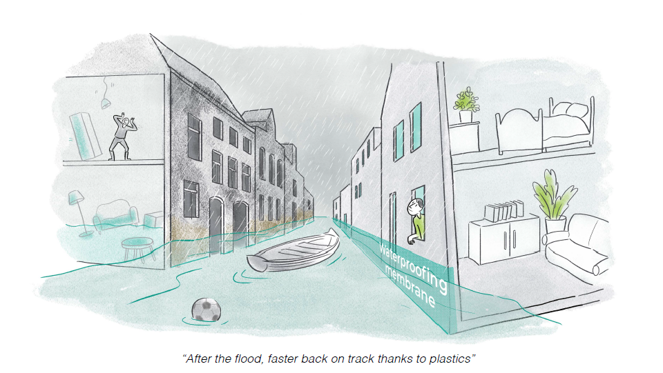 Plastics in construction are weather resistant